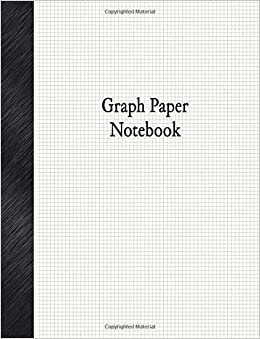 graph paper notebook 1 8 graph paper rule 80 pages basic