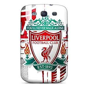 Protective Hard Phone Cases For Samsung Galaxy S3 With Custom Fashion Beloved Fc Of England Liverpool Pattern WandaDicks