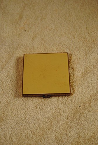 Vintage Elegant White Enamel and Gold Tone Square Powder Vanity Compact