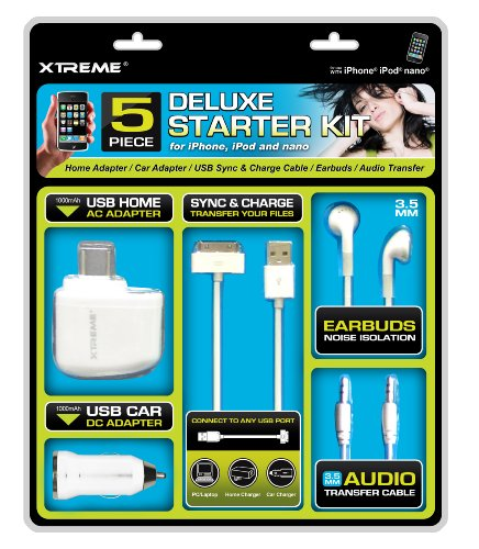 Xtreme 56501 5 Piece Starter Kit - Combo Pack - Retail Packaging - White