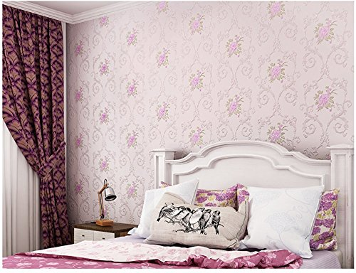 Non-woven Decorative Flower Contact Paper Self Adhesive Luxury Embossed Floral Peel and Stick Wallpaper for Wall Livingroom Bedroom Crafts Wall Decor 20.83 Inches by 9.8 Feet by Glow4u (Image #4)