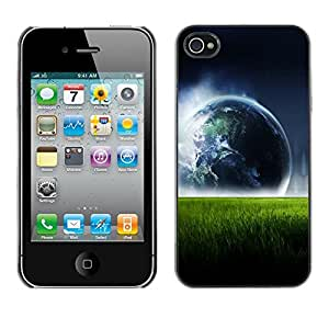 Cubierta de la caja de protección la piel dura para el Apple iPhone 4 / 4S - Space Planet Galaxy Stars 78