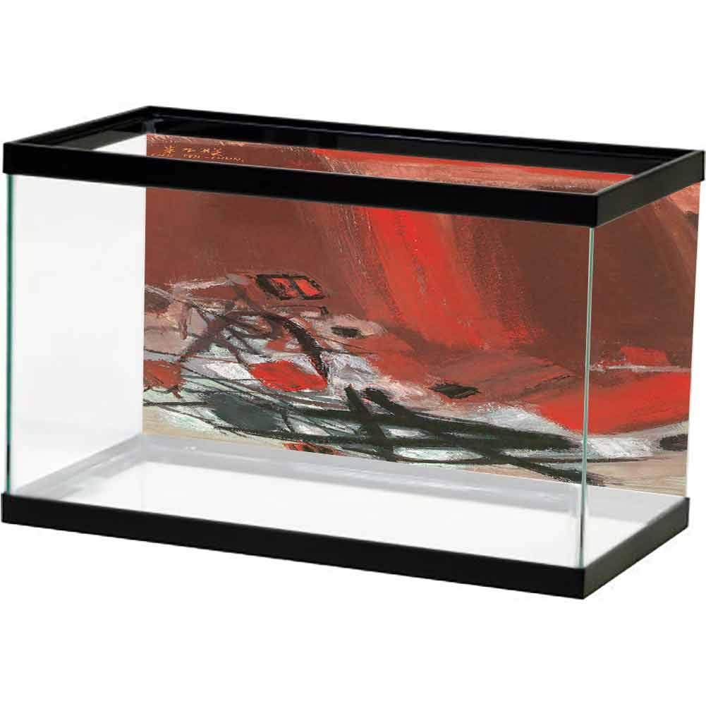 bybyhome HD Aquarium Background Abstract Modern Art (34) Decorate Fish Tank by bybyhome