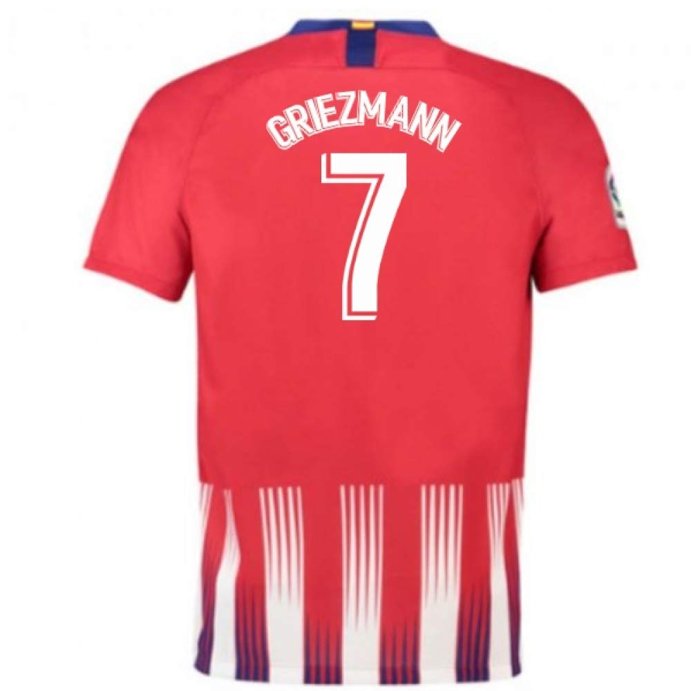 2018-2019 Atletico Madrid Home Nike Football Soccer T-Shirt Trikot (Antoine Griezmann 7) - Kids