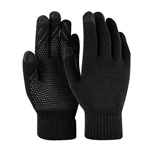 Winter Gloves Knit Mitten Anti-slip Touch Screen Gloves Full-finger Wool Magic Warm Gloves for Women by Kata