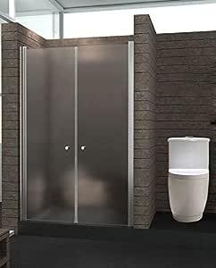 uenjoy mampara de ducha Puerta 8 Mm Vidrio Templado 105 cm (L ...