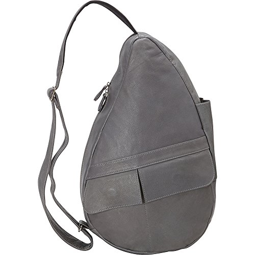 AmeriBag Hbb Leather Naked Backpack, Grey, Small