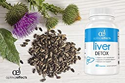 Natural Liver Cleanse Detox Supplement by Optimal Effects - Improve Digestion Healthy Liver Support - All Natural Detox Formula to Remove Toxins - Powerful Antioxidant - Milk Thistle Extract 60 caps