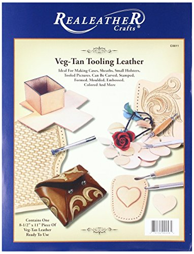 Real Leather Crafts C0811 05 Midweight Tooling Leather Piece, 8.5