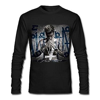 LJT Men's Justin Bieber Purpose Cover Art Long Sleeve T Shirt