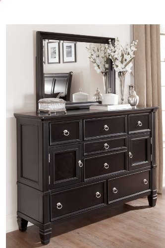 Black Dresser With Mirror By Ashley Furniture