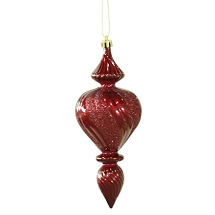 "Vickerman 7"" Burgundy Candy Finish Finial Christmas Ornament, ... - Amazon.com: Vickerman 7"