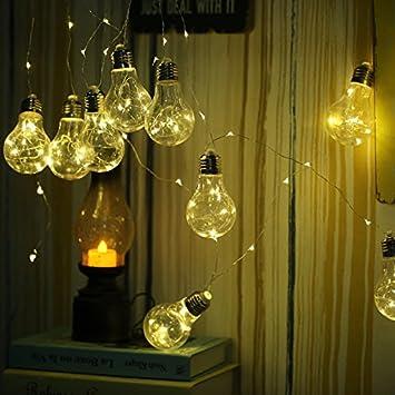 Tiras LED,4,5M10 cobre Lámpara Luz LED String Bombilla pequeña Halloween Navidades Decorationfor