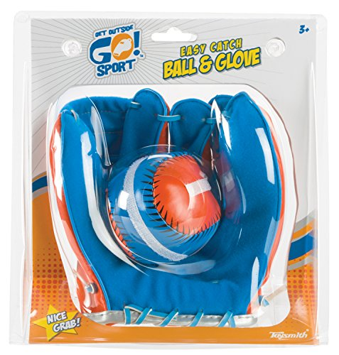 Toysmith Get Outside GO! Super Sport Easy Catch Ball & Glove Set