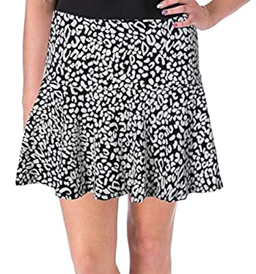 Guess Women's Textured Knit Printed A-Line Skirt