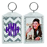 Rhinestone Acrylic Photo Snap-In Keychains - 24 Pack