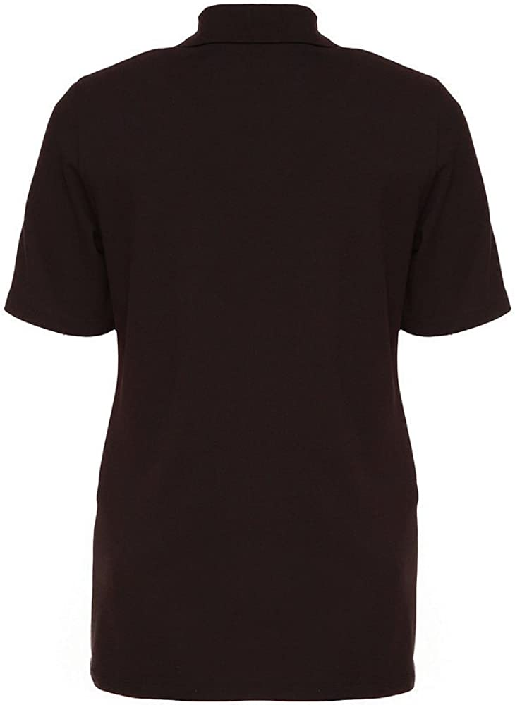 Ulla Popken Polopiquee Camiseta de Manga Corta para Mujer