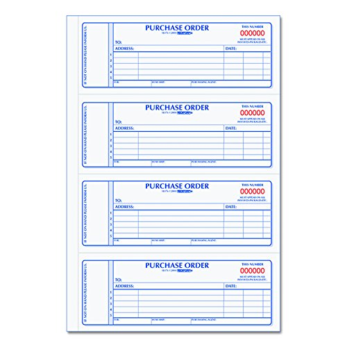 (Rediform Carbonless Purchase Order Book, Numbered, 2.75 x 7 Inches, 400 Duplicate Sets (1L176))