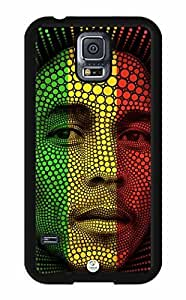 iZERCASE Bob Marley Abstract Rastafari Reggae Colors RUBBER Samsung Galaxy S5 Case - Fits Samsung Galaxy S5 T-Mobile, AT&T, Sprint, Verizon and International