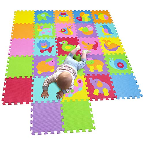 MQIAOHAM Children Puzzle mat Play mat Squares Play mat Tiles Baby mats for Floor Puzzle mat Soft Play mats Girl playmat Carpet Interlocking Foam Floor mats for Baby P011014CS9G300927