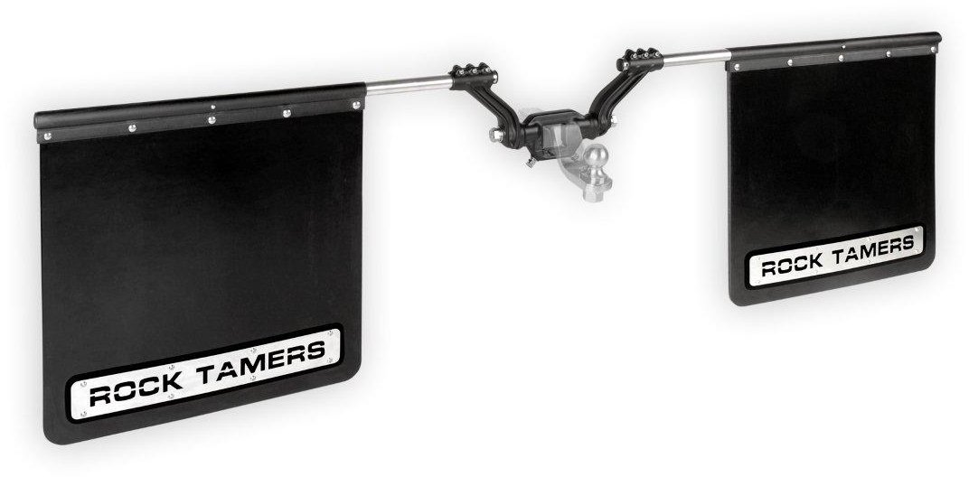 ROCK TAMERS (00110) 2.5'' Hub Mudflap System with Matte Black Stainless Steel Trim Plates by Rock Tamers (Image #10)