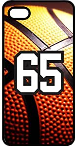 Baseball Sports Fan Player Number 65 Black Rubber Decorative iPhone 4/4s Case