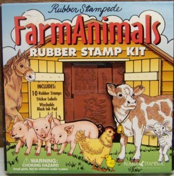 Farm Animals Rubber Stamp Kit