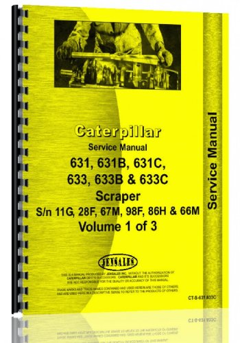 Caterpillar 631 631C 633 Tractor Scraper Service Manual  Ct S 631 633Sc