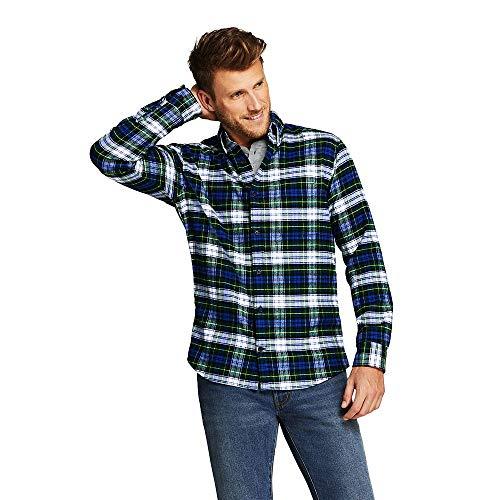 Lands' End Men's Traditional Fit Flagship Flannel Shirt, S, Gordon Dress Tartan ()