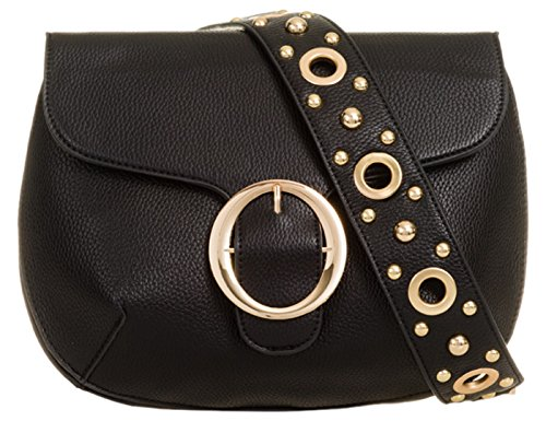 Al Handbags Material Sintético Girly Bolso Hombro Negro De Para Mujer nHqSwpwT