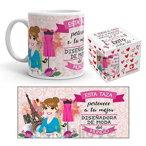 Kembilove Taza de Cafe de la Mejor Disenadora del Mundo – Taza de Desayuno para la Oficina – Taza de Cafe y Te para Profesionales – Taza de Ceramica Impresa – Tazas de Jefe de 350 ml para Disenadoras