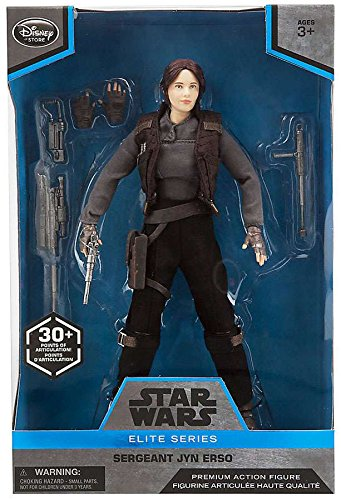 Disney Elite Series Star Wars Poseable Sergeant Jyn Erso Premium Action Figure - 10 Inches - Rogue One - SHIPS PRIORITY MAIL