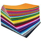 flic-flac 48PCS 8 x 12 inches (20 x 30cm) Assorted Color Felt Fabric Sheets Patchwork Sewing DIY Craft 1mm Thick … (20cm 30cm, 48pcs)