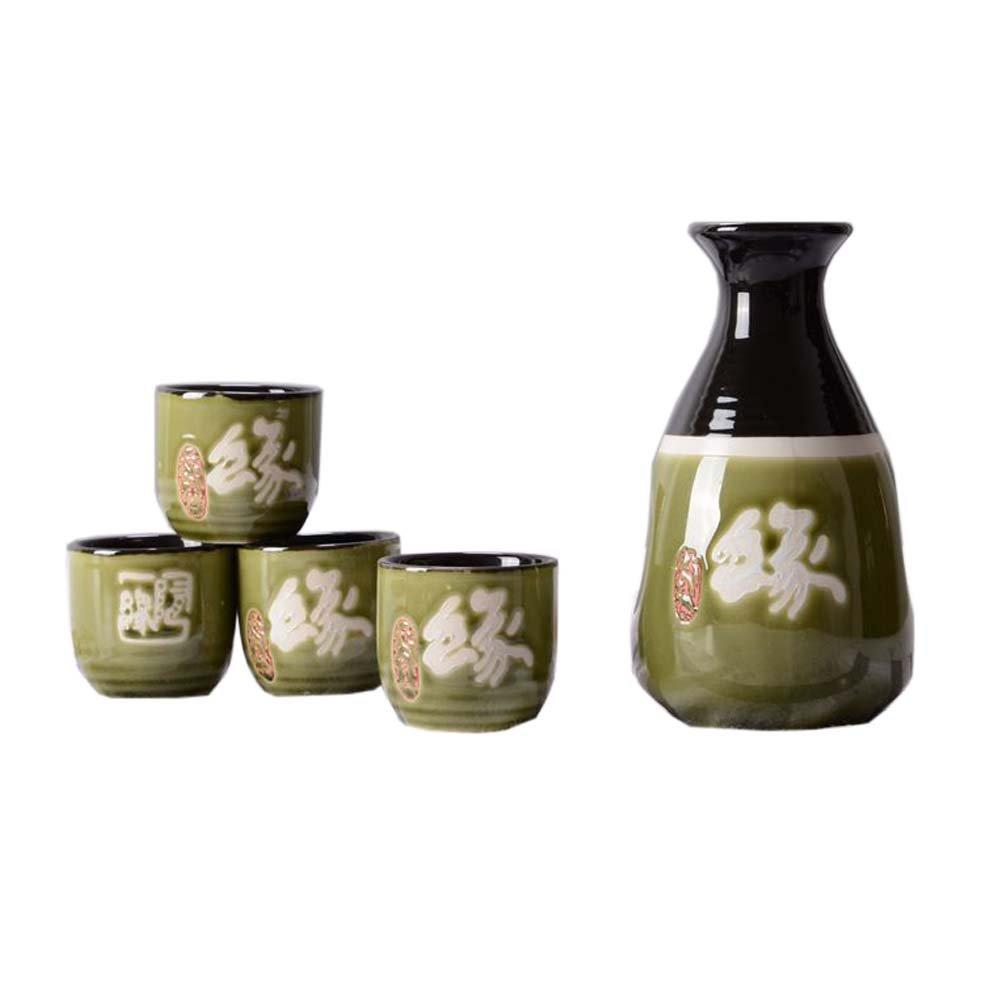 FANCY PUMPKIN Creative Sake Rice Wine Pitcher Cups Sets for Japanese Restaurant, 08