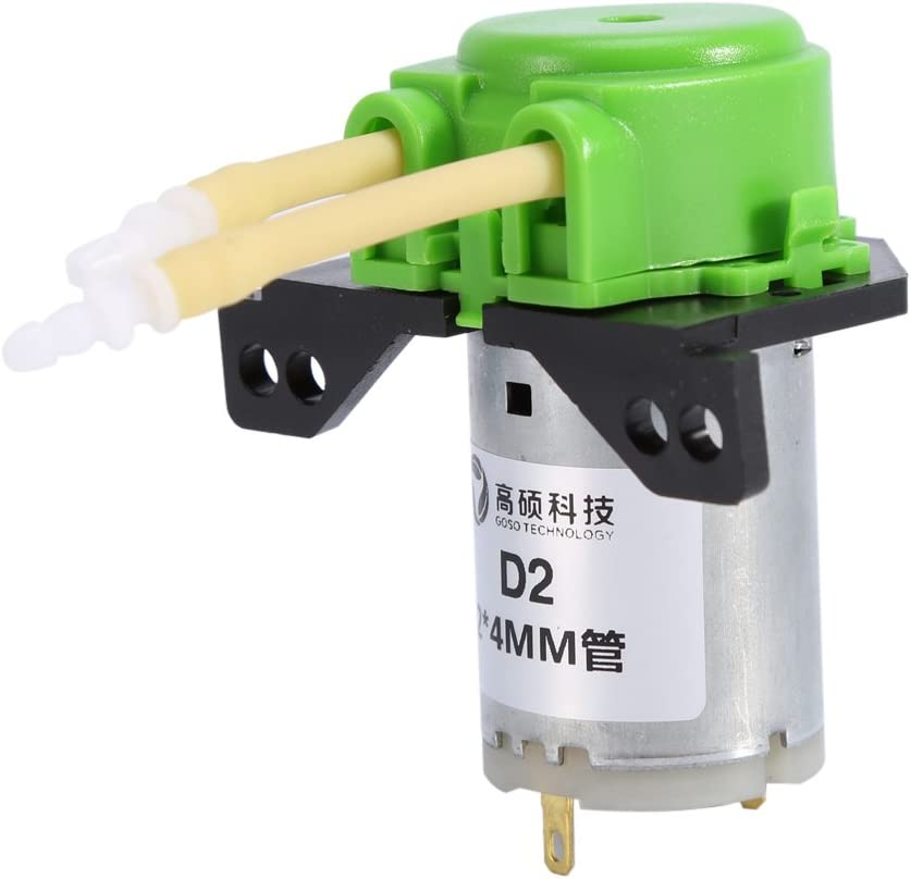 12V DC DIY Dosing Pump Peristaltic Dosing Head Automatic Doser Pump Connector for Lab Analytic Liquid (Green)