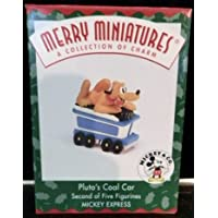 Coche de carbón de Pluto de Disney 1998 Miniatura Hallmark Merry