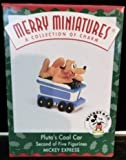 Disney Pluto's Coal Car 1998 Hallmark Merry Miniature