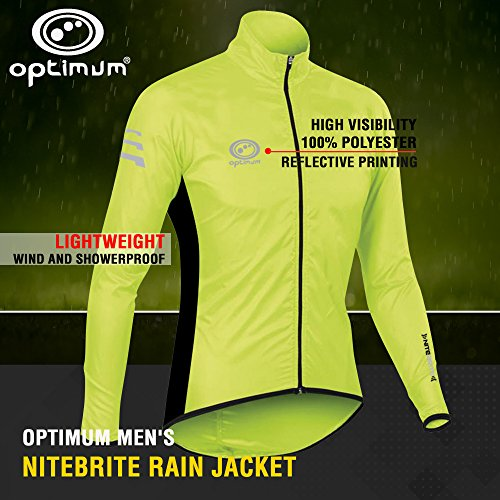 Optimum Men's Nitebrite Cycling Rain Jacket, Green, Medium