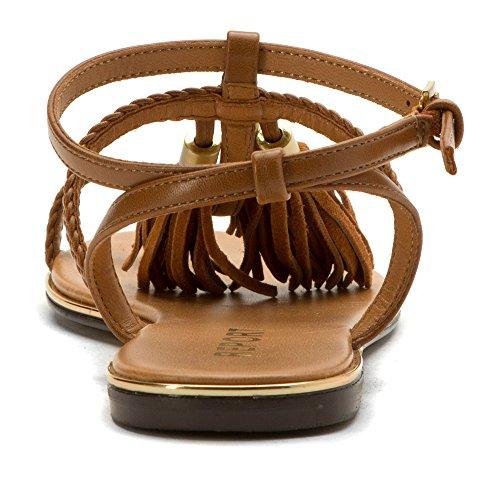 Report Citrine - Sandalias de vestir de Piel para mujer marrón canela Tan