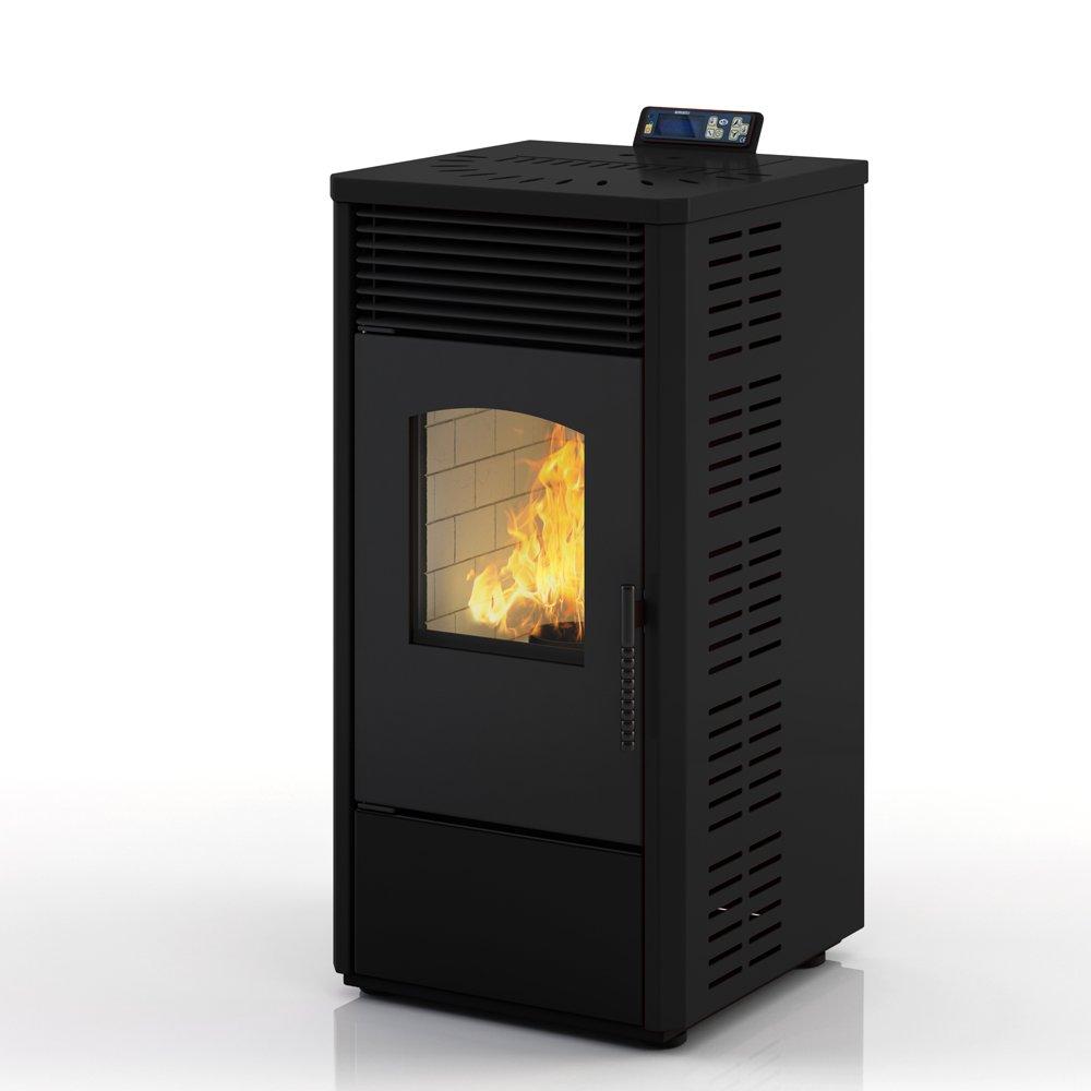Eldstad horno de pellets estufa de pellets chimenea 10,9 kW negro: Amazon.es: Bricolaje y herramientas