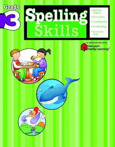 Spelling Skills: Grade 3 (Flash Kids Harcourt Family Learning)
