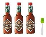 New McIlhenny's Tabasco Brand Buffalo Style Hot Sauce 5 oz (Pack of 3), 1 Silicone Basting Brush
