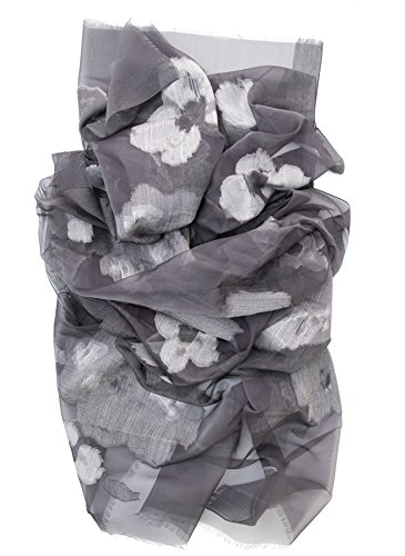 Elizabetta Italian Silk Fil Coupè Evening Formal Shawl Wrap Scarf, Mist