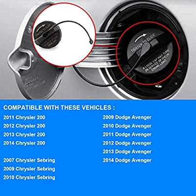 Fuel Cap Replace 4766579AB 2009 2010 2011 2012 2013 2014 Dodge Avenger Allmotorparts Gas Cap 4766579AA Compatible with 2011 2012 2013 2014 Chrysler 200 2007 2009 2010 Chrysler Sebring