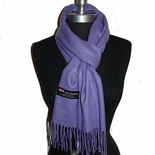 Minnie Mouse Running Costume (Purple_(US Seller)Scarves SOLID Scotland Wool Warm THICK WINTER Scarf)