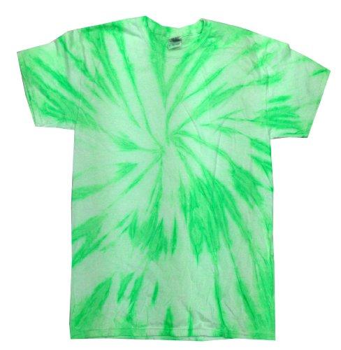 Colortone Tie Dye T-Shirt 2X Neon Kiwi (T-shirt Adult Neon)