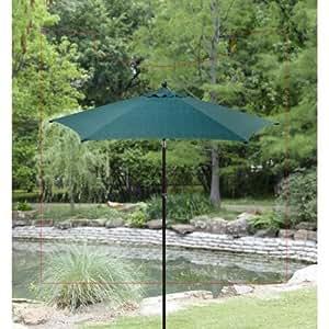 Redondo 9'paraguas mejor casas y jardines, azul diseño de rayas