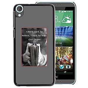 A-type Arte & diseño plástico duro Fundas Cover Cubre Hard Case Cover para HTC Desire 820 (Science Cosmos Carl Sagan Quote Coffee)