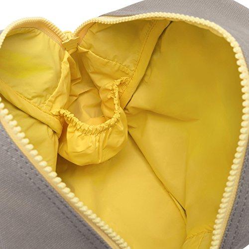 Fluf Zipper Lunch Bag, Organic Cotton (Grey 'lunch') by Fluf (Image #2)