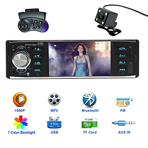 CARED 41 Inch Car stereo MP5 playeruniversal Single Din with bluetoothCar  Headunit audio receiverMP3USBSDAUX inwireless Remot